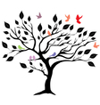 tree b birds vector image