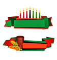 Kwanzaa Ribbon 2 Colorful Banners Set vector image