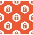 Orange hexagon locked pattern vector image