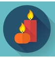 Candle icon - vector image