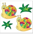 a snail - puzzle for child vector image