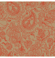 seamless background with a paisley ornament vector image vector image