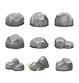 Stones and rocks cartoon vector image