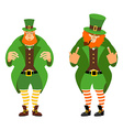 Leprechaun bad and good Angry leprechaun with vector image