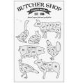 Butcher Shop Board vector image