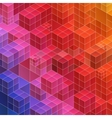 Abstract geometric background red and blue vector image