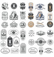 Big set of vintage tailor badges stickers vector image