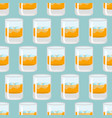 Glass of whiskey and ice seamless pattern scotch vector image