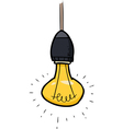 glowing light bulb vector image