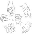 Hands in different interpretations vector image