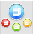 Icon of notebook vector image