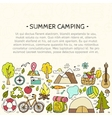 Set of hand drawn camping equipment symbols vector image