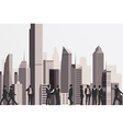 Silhouettes of business people vector image
