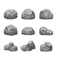 Stones and rocks cartoon vector image