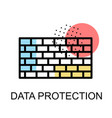 wall icon for data protection on white background vector image