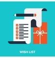 wish list vector image