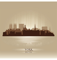 York England city skyline silhouette vector image vector image