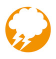cloud with thunder weather icon vector image vector image