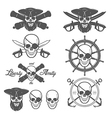 Set of pirate themed design elements vector image