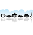 European landmark icons vector image