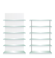 Empty shop glass shelves vector image