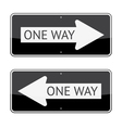 One Way Signs vector image