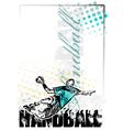 handball poster background vector image