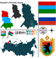 Map of Republic of Karelia vector image