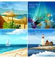 Seascape Set vector image