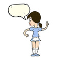 cartoon waitress calling order with speech bubble vector image
