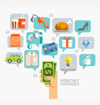 Monthly expenses conceptual flat style vector image