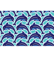 seamless dolphin 380 vector image vector image