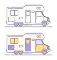 camping cars vector image