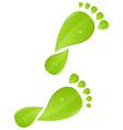 green steps vector image
