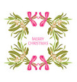 hand drawn mistletoe frame vector image