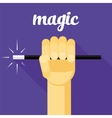magic magic wand in hand vector image