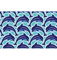 Seamless dolphin 380 vector image