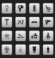 set of 16 editable hairstylist icons includes vector image