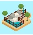 Zoo Worker vector image