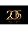 - 2015 Happy New Year background vector image