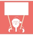 Santa Claus holding white blank vector image vector image