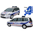 france police car vector image