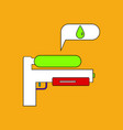 flat icon design collection water gun vector image vector image