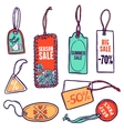 Tags Color Set vector image vector image