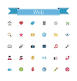 Web Flat Icons vector image vector image