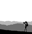 lone traveler vector image