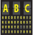 alphabet of black mechanical panel vector image vector image