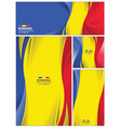 abstract romania flag background vector image