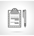 Business document line icon vector image