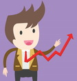 businessman pulling up a graph Business concept vector image